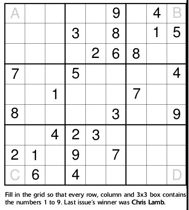 sudoku solver in postscript chris lamb